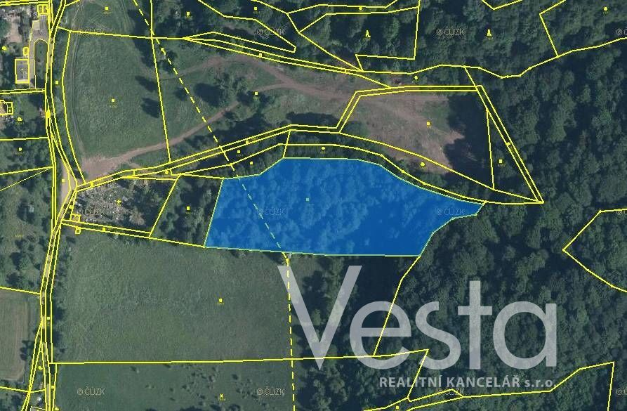 Pozemek 10 971 m2 v obci Těchlovice