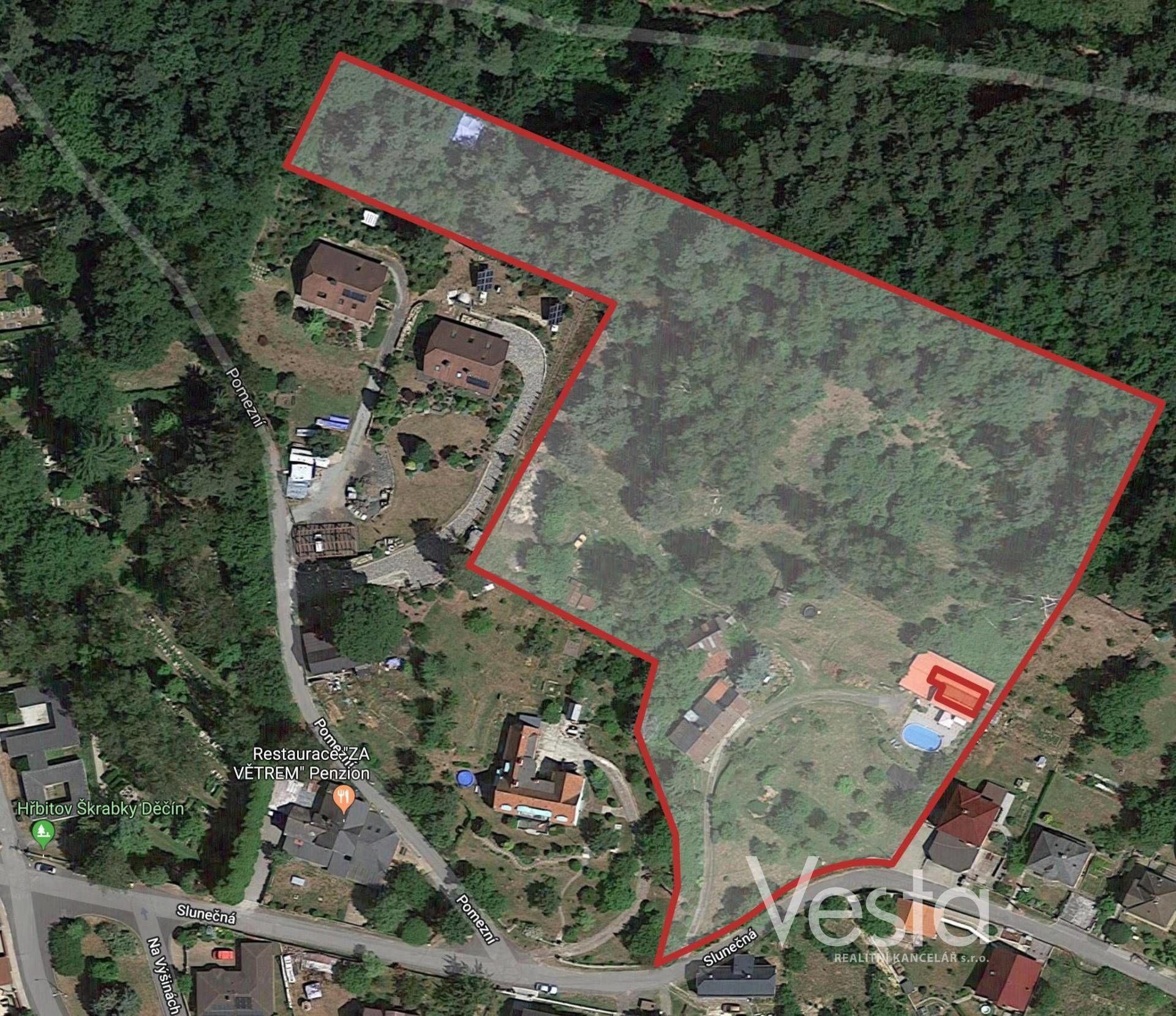 Výjimečný pozemek 14 346 m2, vhodný pro výstavbu RD